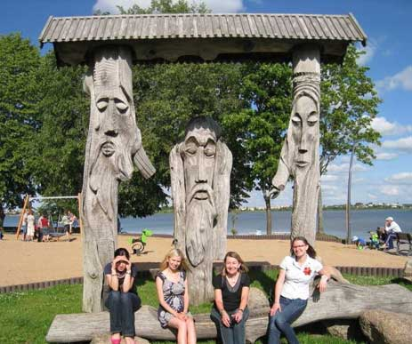 Lithuania CM Training - The 3 witches of Telsiai (that is the carved ones)